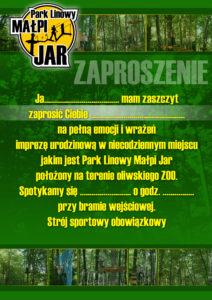 Zaproszenie - Małpi Jar